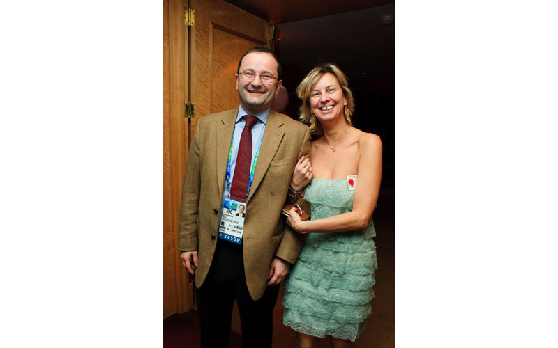 Ms Xenou with FIBA's and IΟC member Mr Patrick Baumann - Vancouver 2010