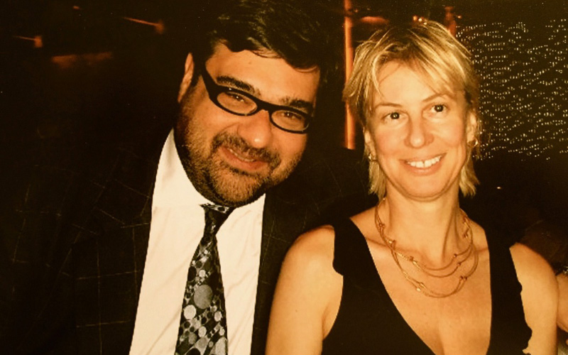 Ms Xenou with OBS CEO Mr Yannis Exarchos - Beijing 2008